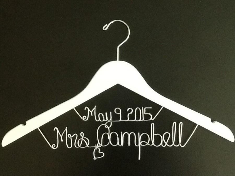 Wedding - Personalized Wedding Hangers, Bridal Hangers, Bride gift, Wedding Gift,custom made wedding Hangers, Name Hanger,shower gifts