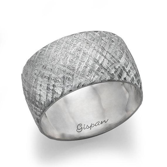Wedding Ring, White Gold Ring, Unique Wedding Ring, Wedding Band ...