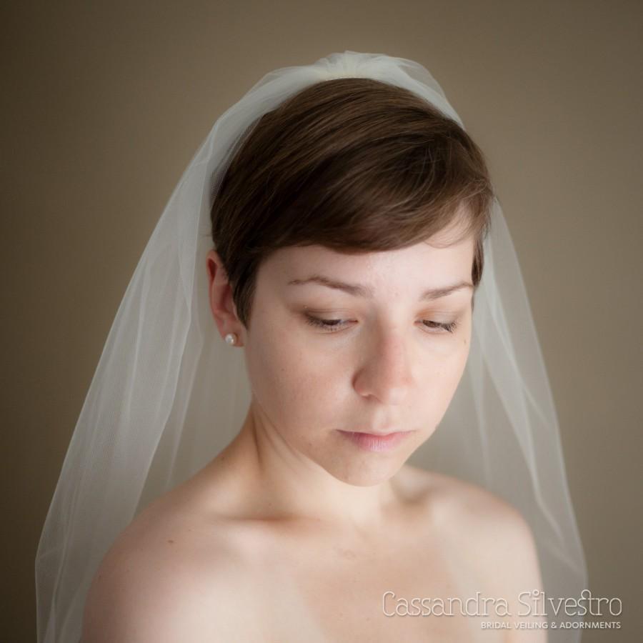 Mariage - Single Layer Illusion Tulle Wedding Veil (Bridal Veil, Cathedral Veil, Elbow Length, Finger Tip Length, Waltz Length, Chapel Length Veil)