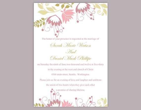Свадьба - DIY Wedding Invitation Template Editable Word File Instant Download Printable Invitation Floral Wedding Invitation Colorful Invitation