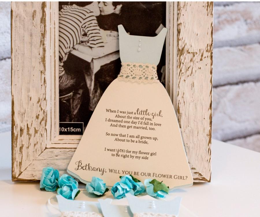 زفاف - Will you be my Flower Girl Invitation, Flower Girl Proposal, Asking Flower Girl, Flower Girl  Invitation, Gown Invitation (BR5)