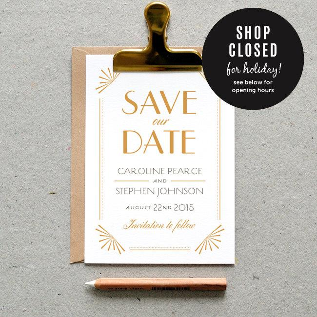 PRE-ORDER For Jan. 4 / Printable Wedding Save The Date PDF ...