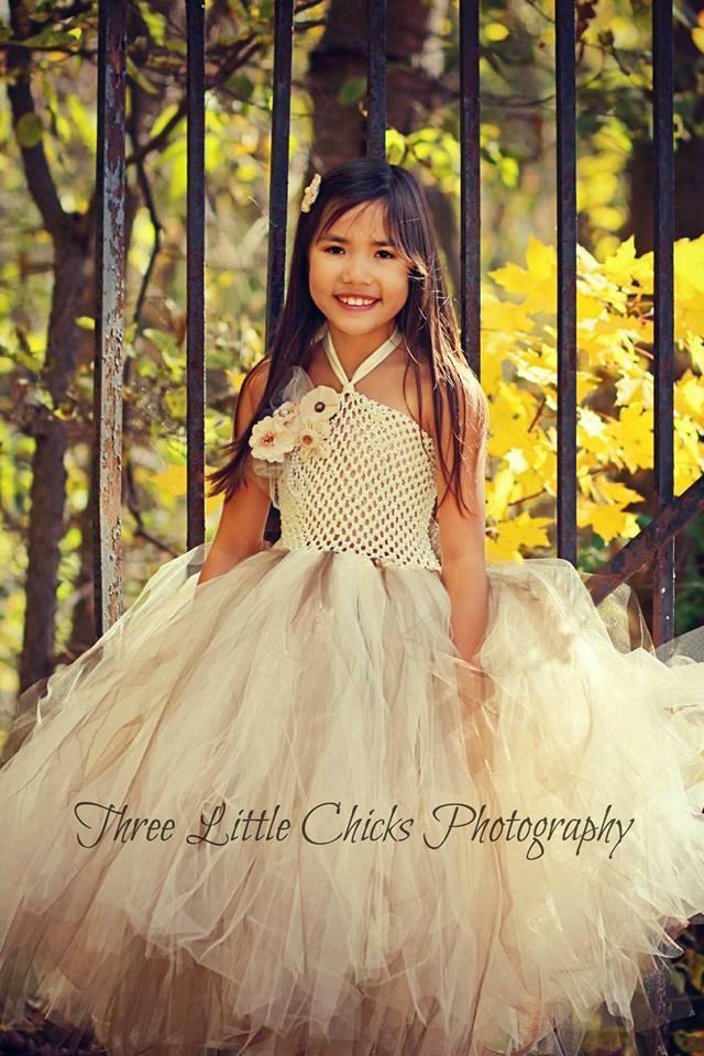 Mariage - Burlap & Lace Couture Flower Girl Tutu Dress/ Shabby Chic Wedding/ Rustic Wedding/ Country Wedding