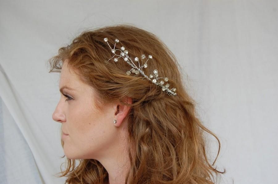 Wedding - Rhinestone Aurora Borealis Hair Comb  Head Piece Tiara MADE TO ORDER