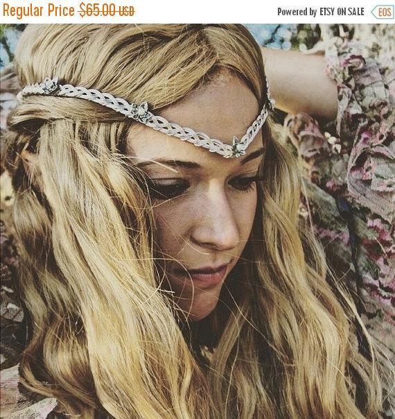 ON SALE Galadriel Elven Ivy Leaf Celtic Circlet Tiara Silver Or Gold ...