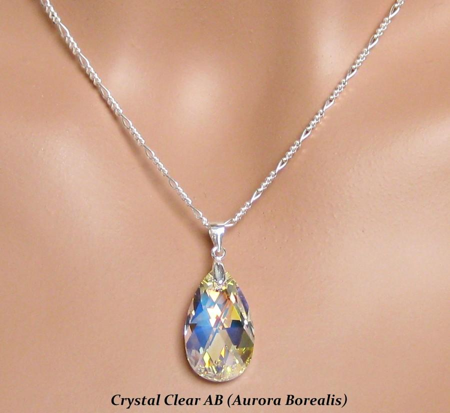 Swarovski crystal teardrop pendant bridal jewelry set bridesmaids swarovski crystal teardrop pendant bridal jewelry set bridesmaids gifts wedding jewelry set bridesmaids jewelry set aloadofball Gallery