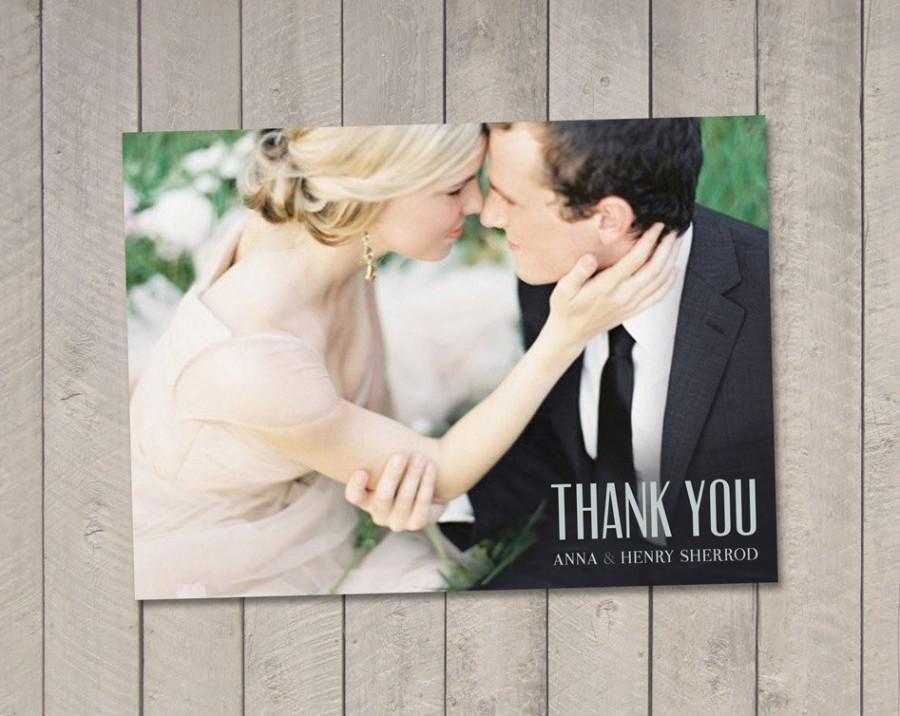 Hochzeit - Wedding Thank You Card (Printable) by Vintage Sweet
