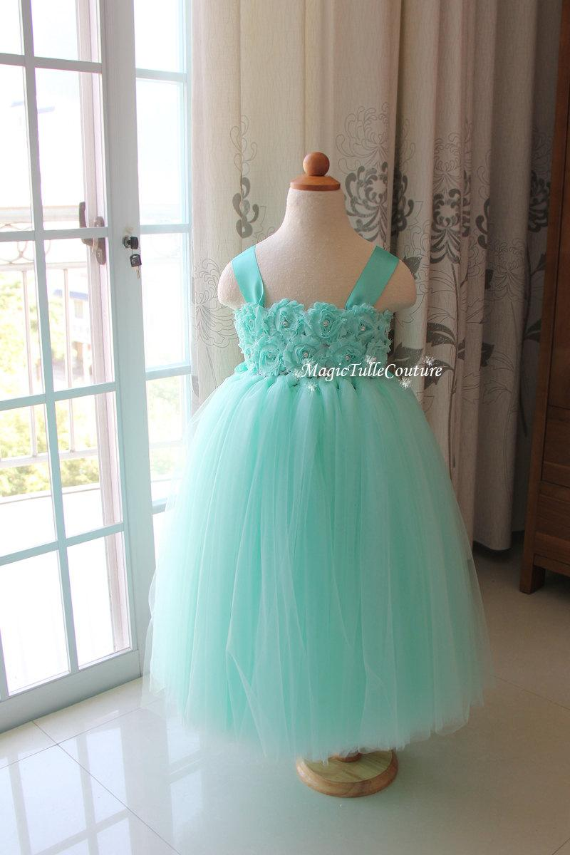 Mint Green Mint Flower Girl Tutu Dress Mint Green Tutu Toddler Dress ...