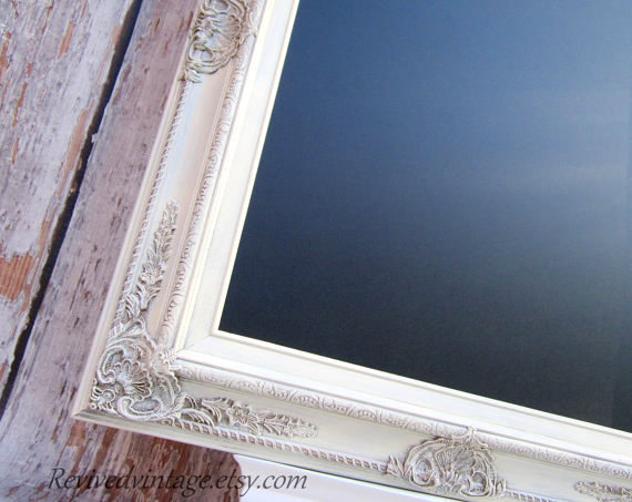 Rustic Wedding Decor For Sale Vintage White Rustic Framed Menu Board