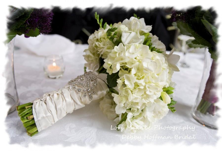 Mariage - Bouquet Wrap, Crystal Wedding Bouquet Wrap, Rhinestone Bridal Bouquet Cuff, Jeweled Bridal Bouquet Wrap, Bouquet Accessories, No. 1166BW