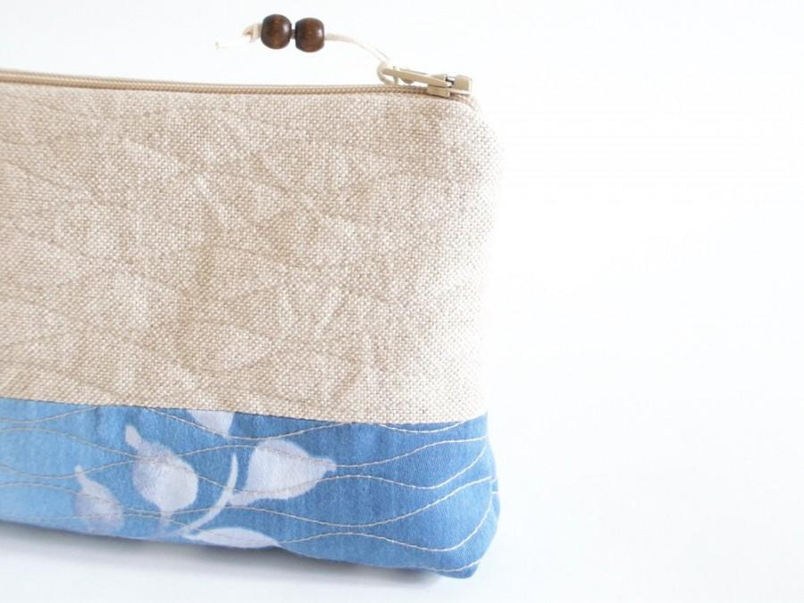 Свадьба - Rustic Blue Clutches, Beach Wedding Bags, Bridesmaids Gifts, Set of 7 Wedding Purses, Wristlets