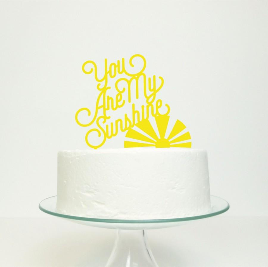 You Are My Sunshine - Wedding Celebration Party Gold Glitter Cake ...