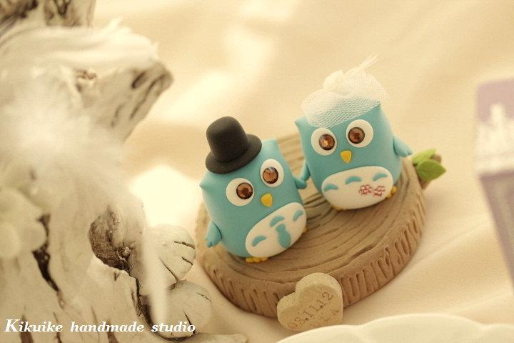 Owls With Stump Wedding Cake Topper---k521 #2433996 - Weddbook
