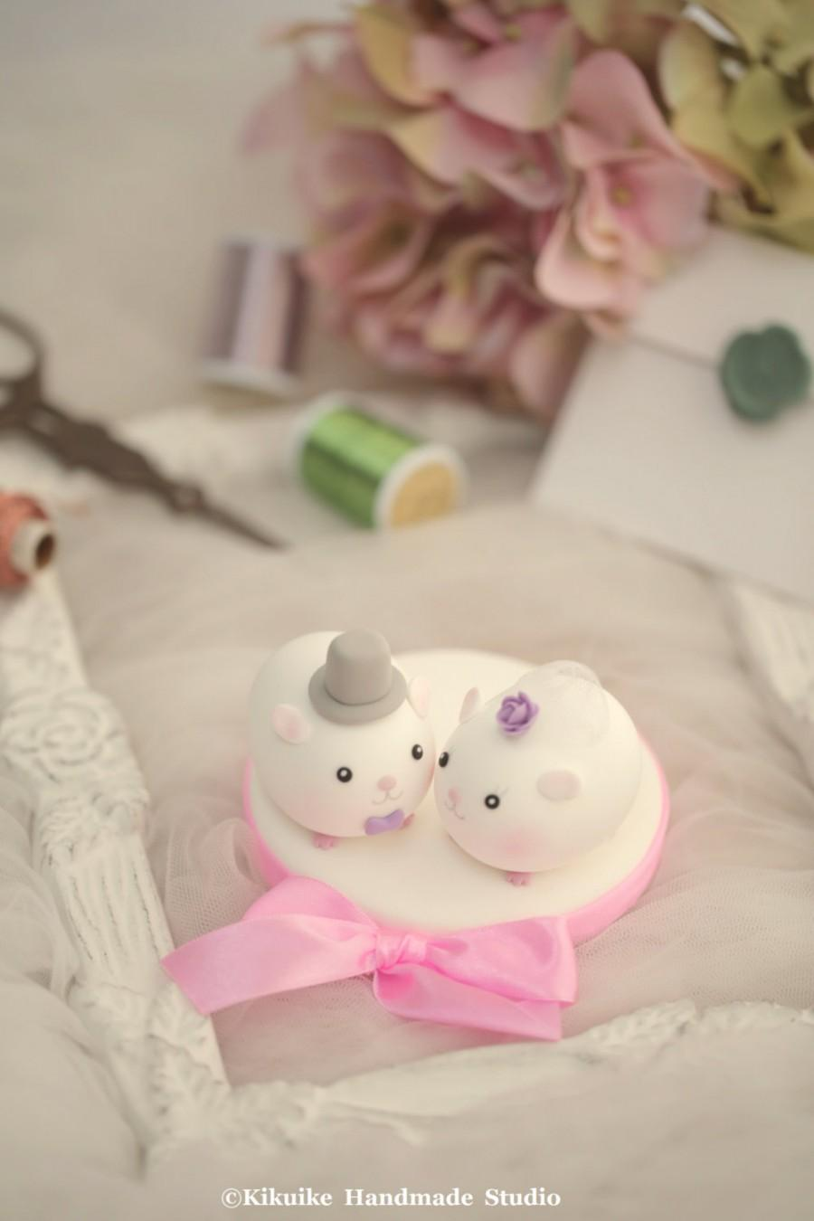 Mariage - guinea pigs  Wedding Cake Topper---k712