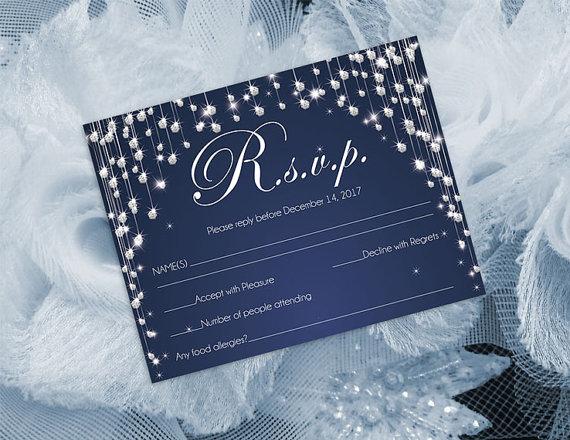 Wedding - DIY Printable Wedding RSVP Template