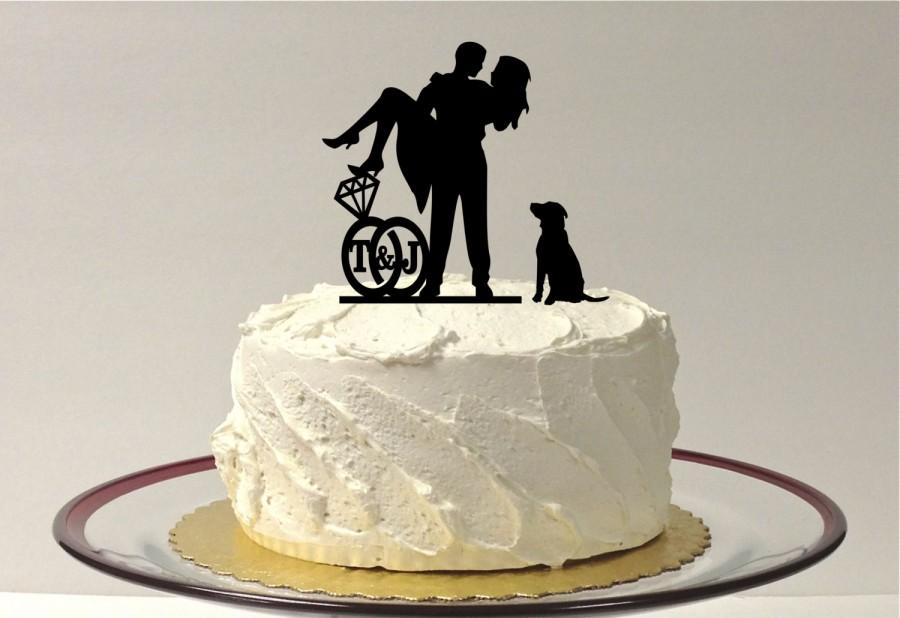 Cutest Wedding Cake Toppers.Add Your Dog Personalized Cute Wedding Cake Topper With Your