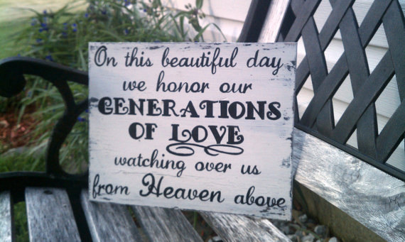Mariage - Wedding Sign, Memory Sign, Heaven Sign, Wood Wedding Sign, Reception Table Decoration
