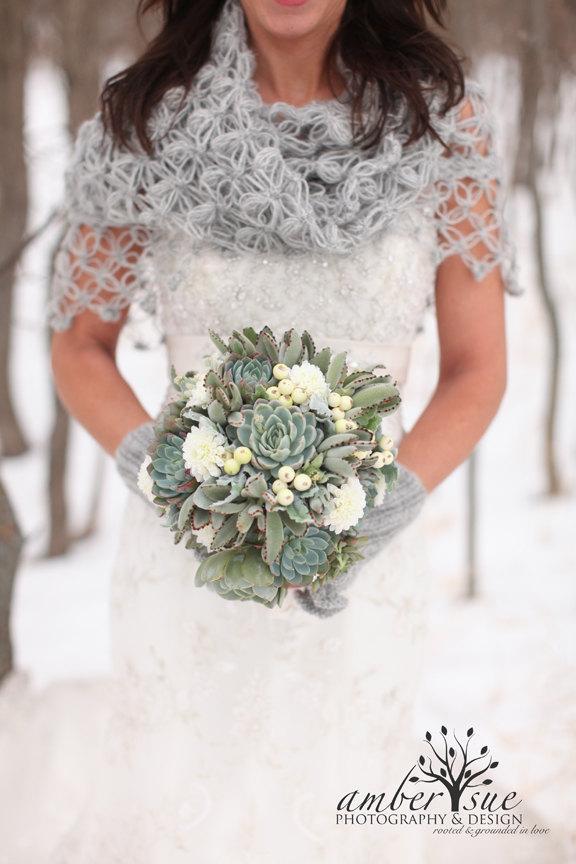 Mariage - Bridal Shawl, Wedding Shawl, Bridal Shrug, Ivory Shawl, Gray Shawl and Shrug, Winter Wedding, Bridal Bolero, Crochet Shawl, Bridal Cover Up