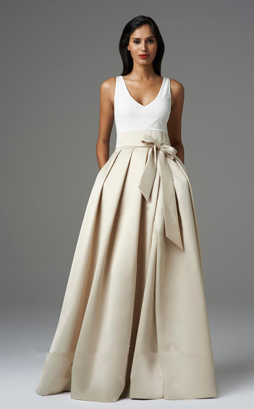 Pleated Perfection Bow Evening Gown Aidan Mattox 457680 #2434153 ...