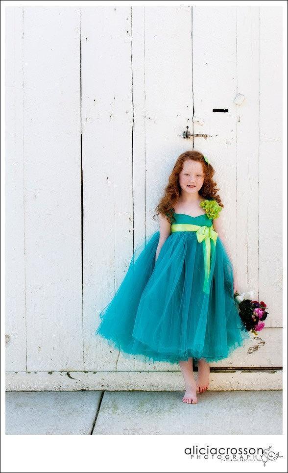 Mariage - Flower Girl Dress Silk Dress