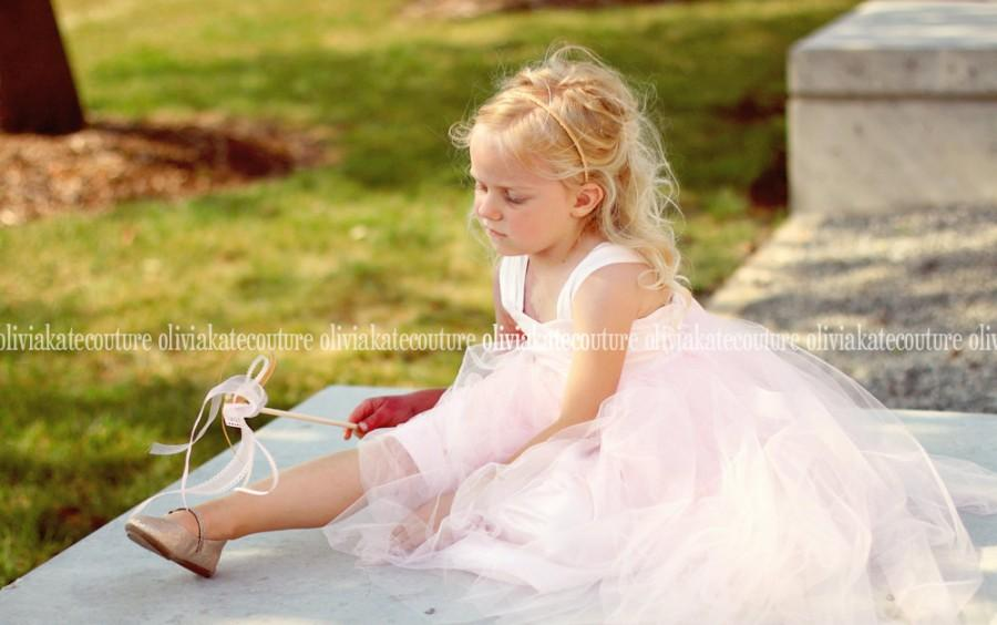 Wedding - Flower Girls Dress Pale Pink