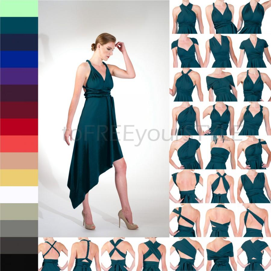 ANGLED Infinity Wrap Dress, Free-Style Dress, Convertible Dress ...