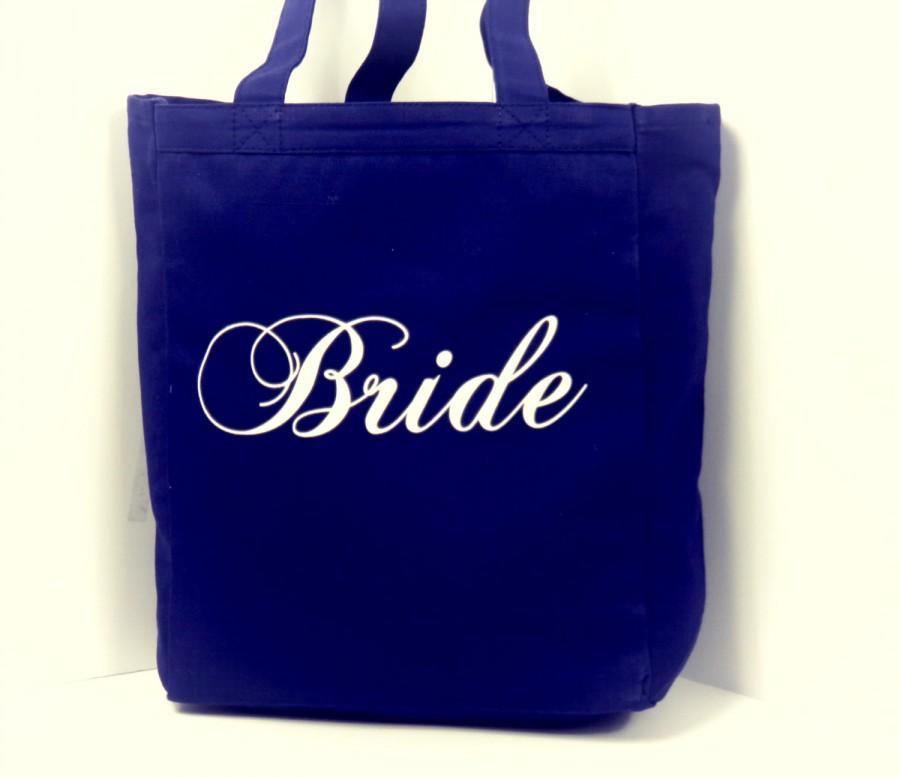 Mariage - Navy Bride Wedding Tote Bag  by Bleu Boxx