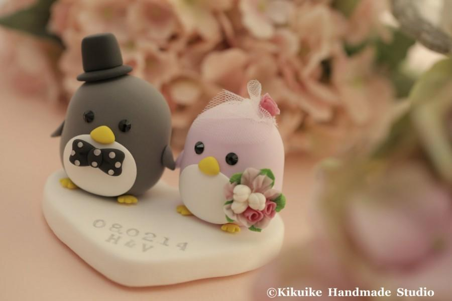 Mariage - Penguins Wedding Cake Topper (K421)