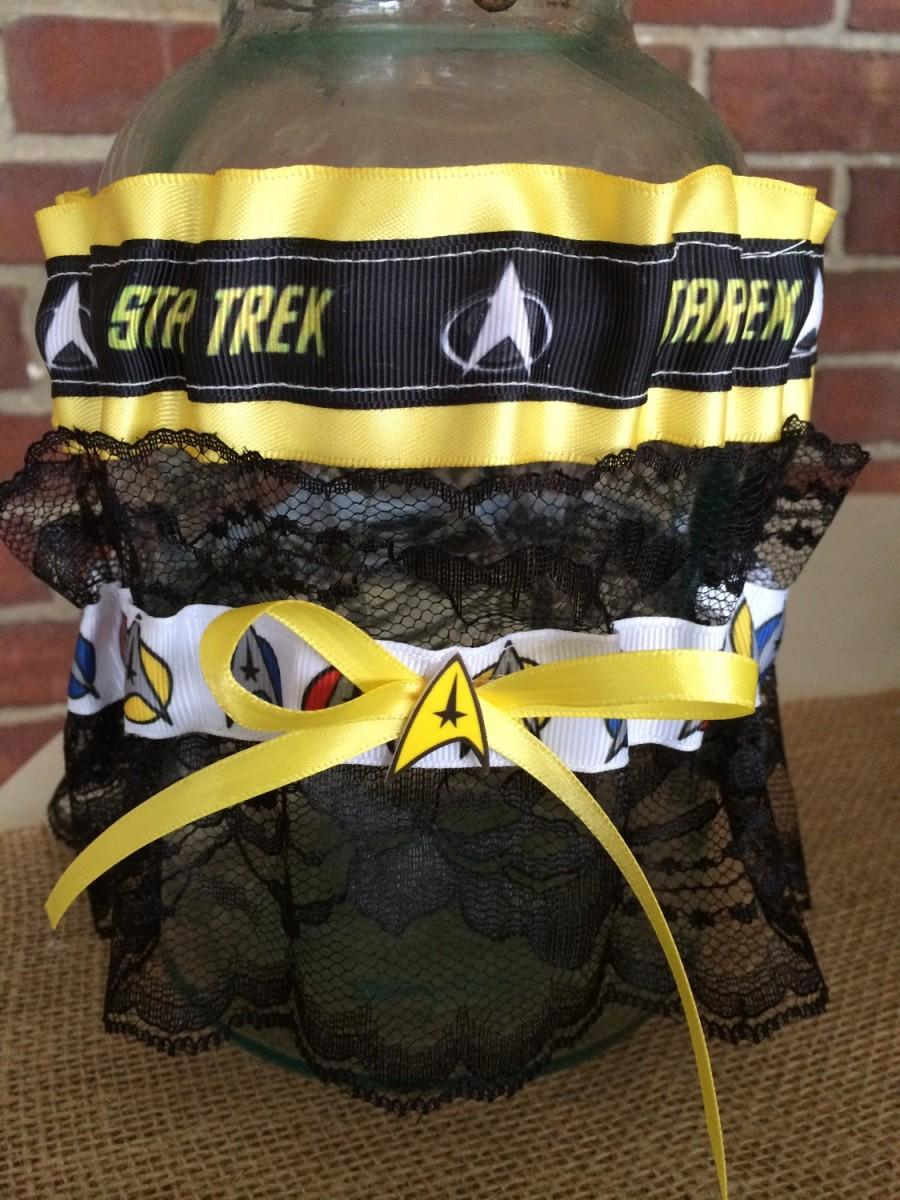 Mariage - Star Trek Wedding Keepsake Toss Garter Set Geek Nerd