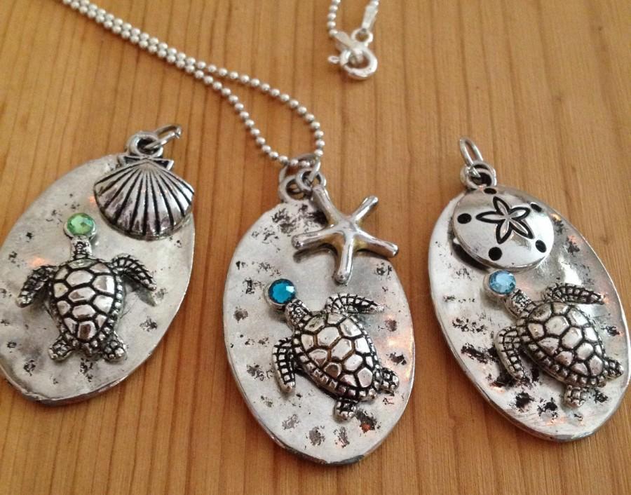 Hochzeit - Beach Gift/Sea Turtle Starfish Necklace Necklace, Beach Necklace, Starfish Nautical Necklace, Beach Wedding Necklace