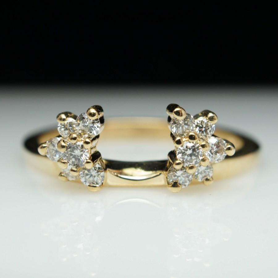 Vintage Estate 27ct Diamond Engagement Ring Enhancer Wedding Band