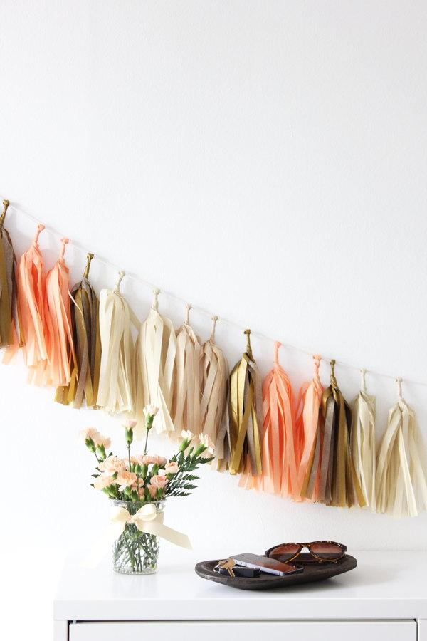 Mariage - Tissue Tassel Garland Kit - Nectar