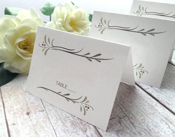 Wedding Place Cards - Wedding Escort Cards - Botanical Country ...