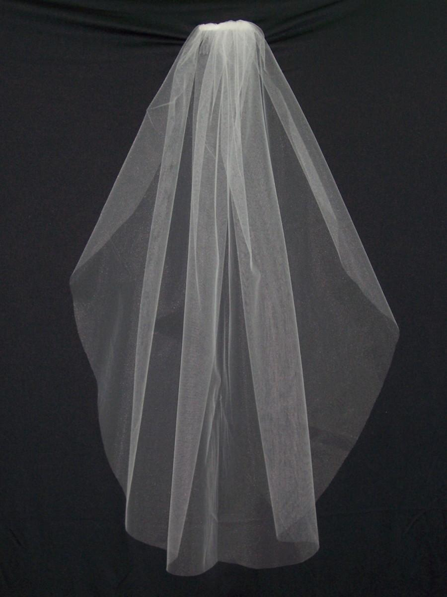 Wedding - Elbow length tulle bridal veil-Single Layer in White or Ivory