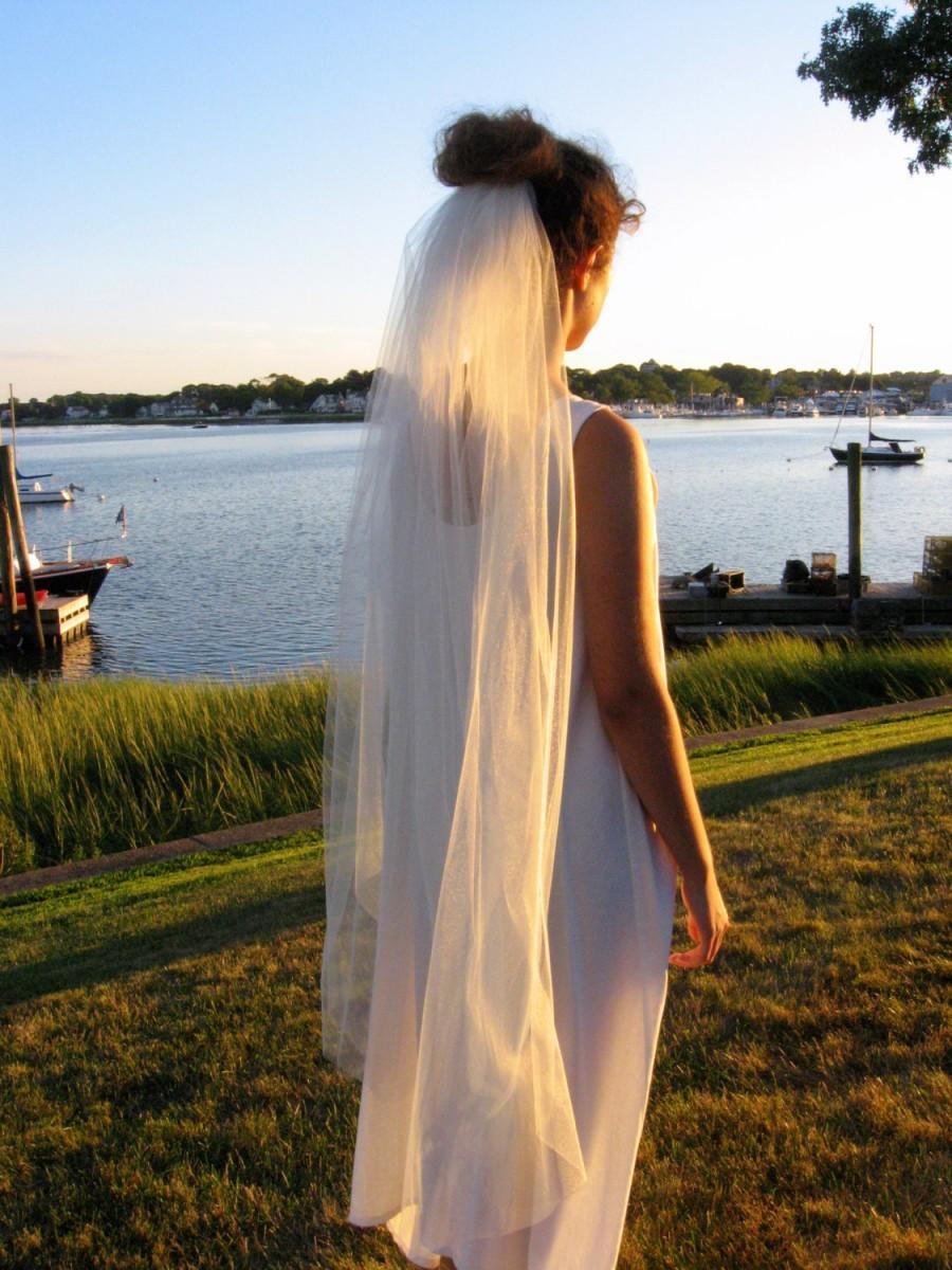 Mariage - Bridal Veil - Wedding Veil - Simple Veil - White Tulle - Ivory Tulle - Mid Length