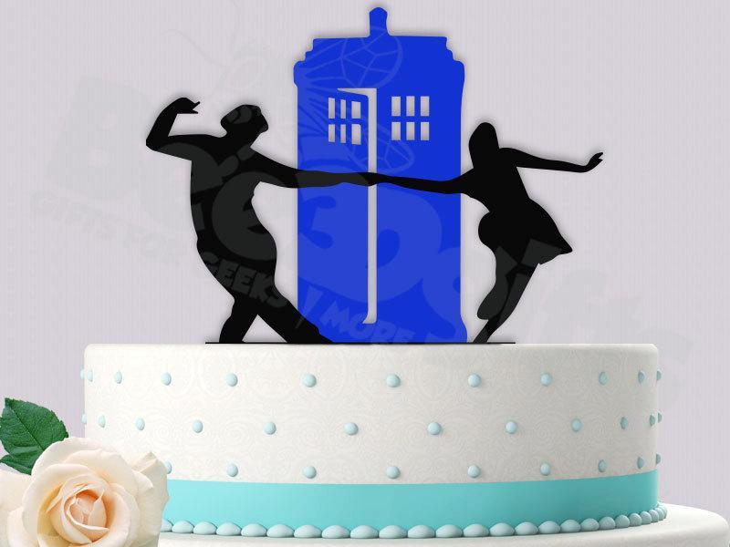 Свадьба - Rock  Around the Tardis Cake Topper