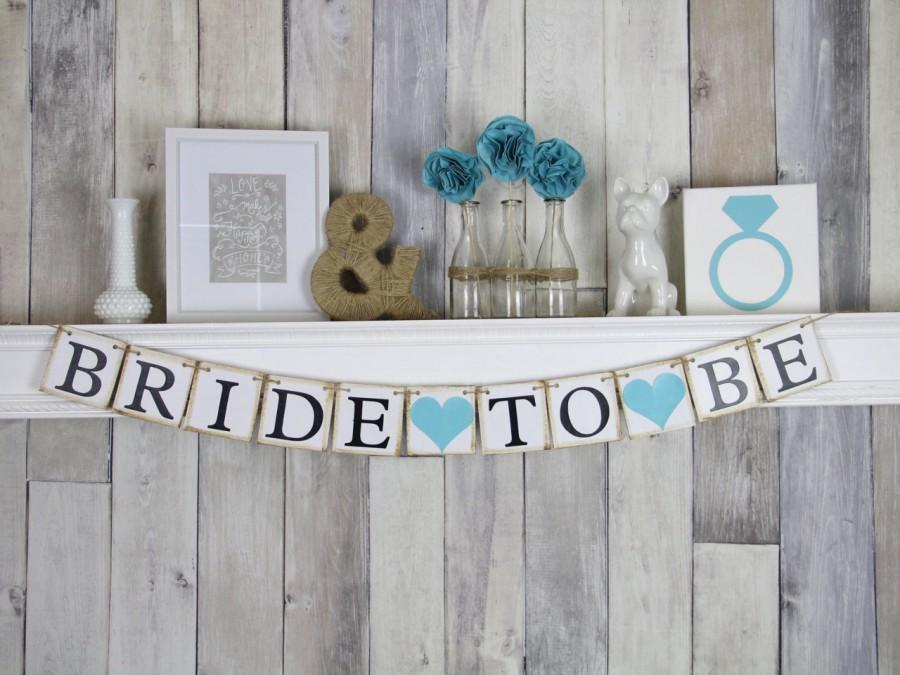 Свадьба - Bridal Shower Banner - Bride To Be Banner - Bridal Shower Decorations - Bachelorette Party - Blue - Hens Party