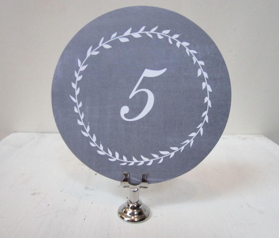 زفاف - Wedding Table Number, Chalkboard Table Number Card, Round Table Number, Paper Table Number, Rustic Table Numbers, Blackboard Wedding Numbers