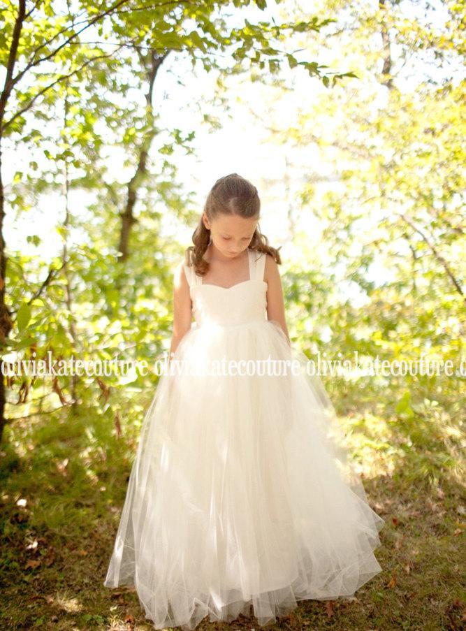 Свадьба - Flower Girl Dress Floor Length