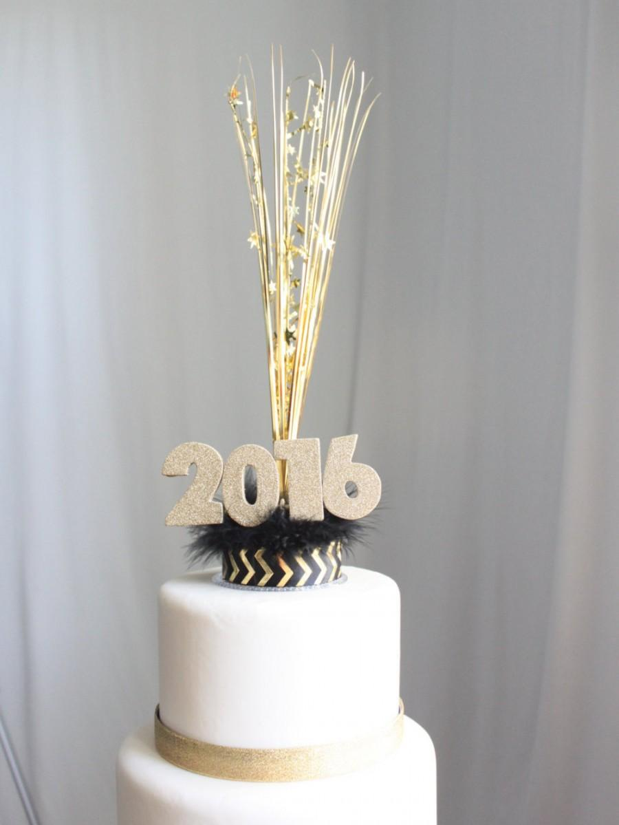Mariage - New Year's 2016 Cake Topper