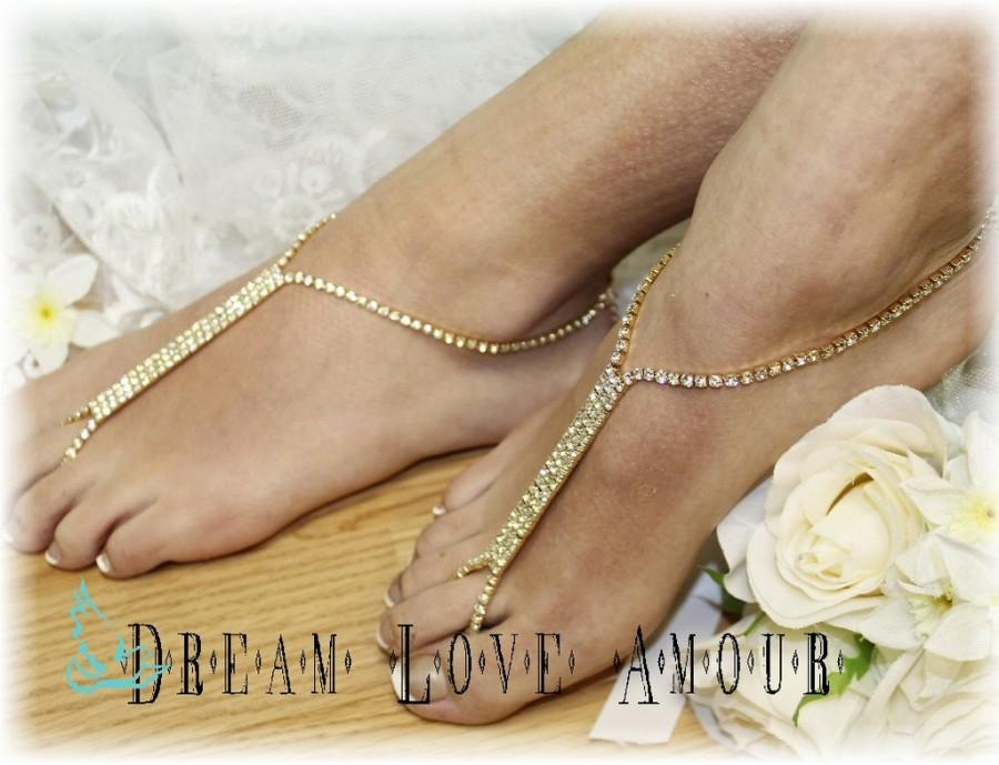 Barefoot Sandals Glamorous Foot Jewelry Footless Beach Wedding