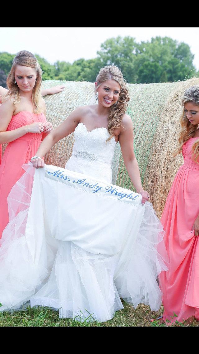 Свадьба - Wedding gown long hem dress label