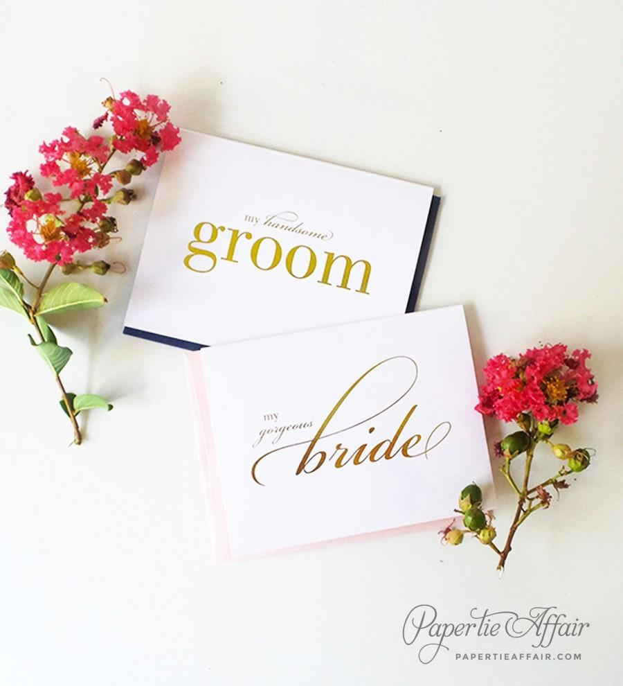 Foil Wedding Day Card To Bride Or Groom My Gorgeous Bride My