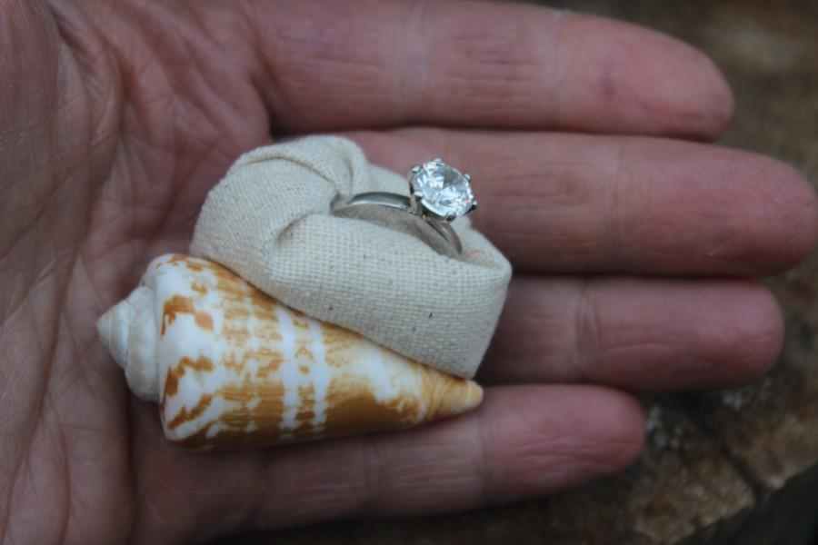 Engagement Ring Box Proposal Box Sea Shell Beach Nautical