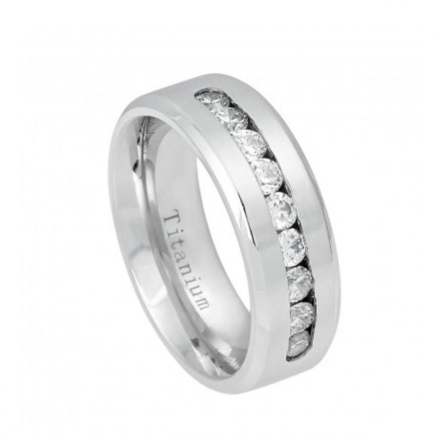 mens titanium wedding rings Aquamarine Engagement Ring Meteorite In Wavy 10k White Gold