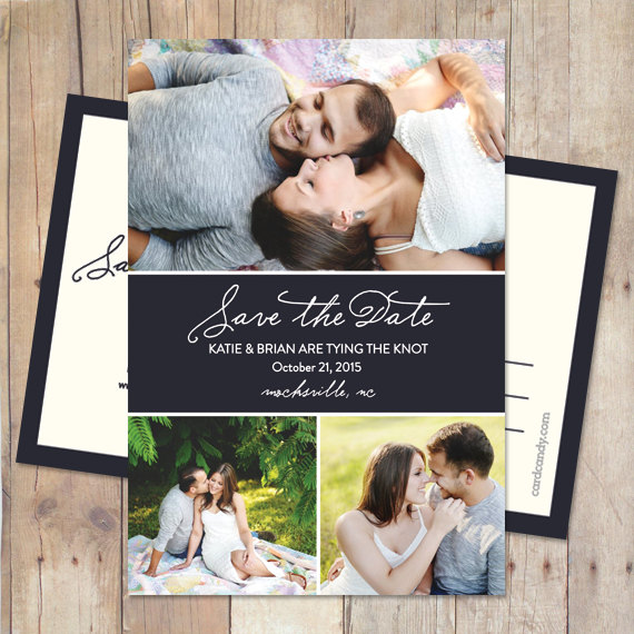Mariage - Simple Save-The-Date Card, Save The Date Postcard, Save The Date Magnet - Ribbon