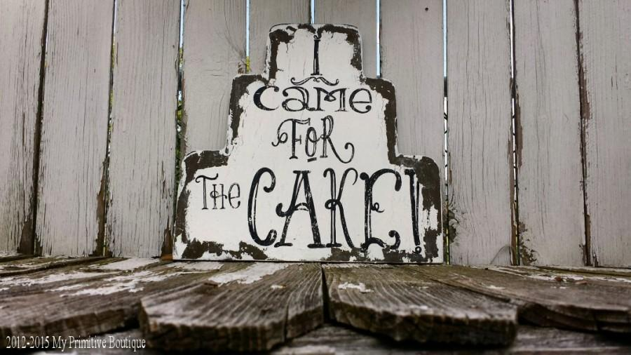 Свадьба - I Came for the CAKE Sign, Vintage Wedding Sign, RING BEARER Sign, Flower Girl Sign, Humorous Wedding Sign, Shabby Chic Wedding Sign