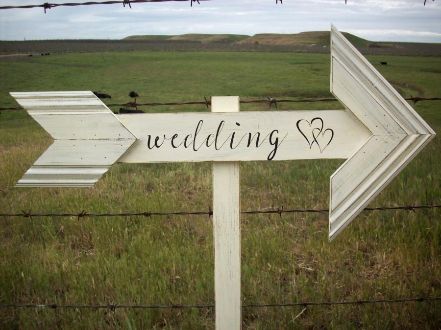 Wedding Arrow Sign Rustic Outdoor Country Painted Beach Cottage Chic Arrows