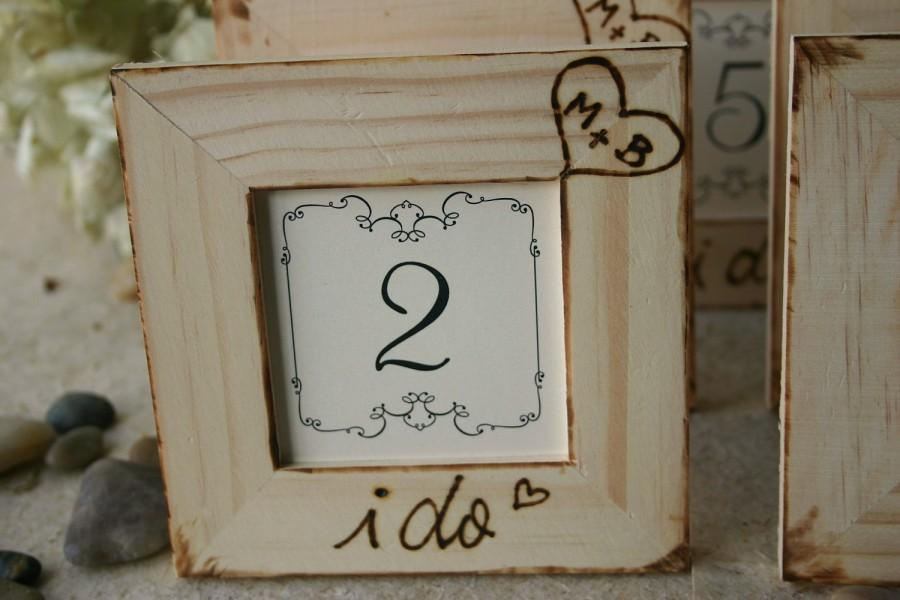 Rustic Wedding Decor Set Of 8 Table Number Frames For Your Rustic ...