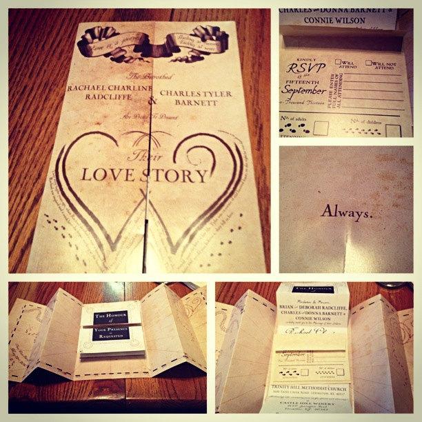 Harry Potter Marauders Map Wedding Invitation 2435199 Weddbook